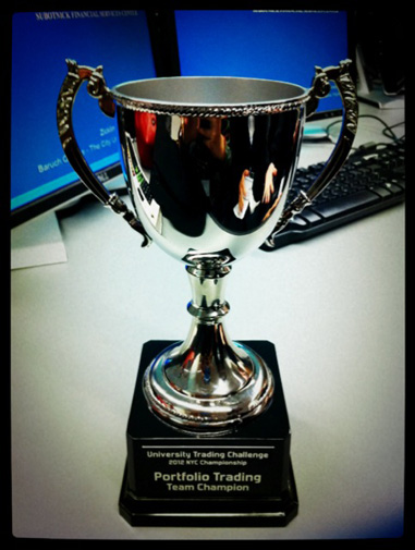 Trophy from University Trading Challenge 2012