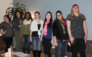 Members of the Social Work Action Gateway (SWAG) celebrate the opening of their new student lounge.