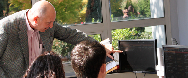 Michael Driscoll in the classroom