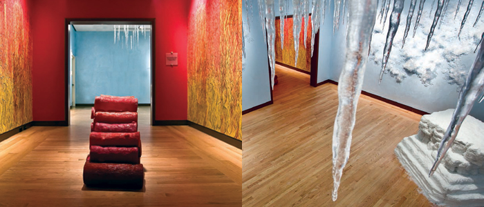 Bi Polar, an installation by Adelphi Associate Professor Carson Fox, exhibited in 2012 at the New Britain Museum of American Art in Connecticut.