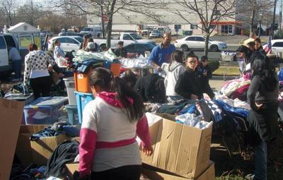 Students provide demolition and cleanup assistance after Superstorm Sandy