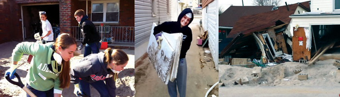 Students volunteer in local towns devastated by Superstorm Sandy