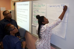 Students met for an all-day anti-bullying workshop on July 29 at Manhattan Center