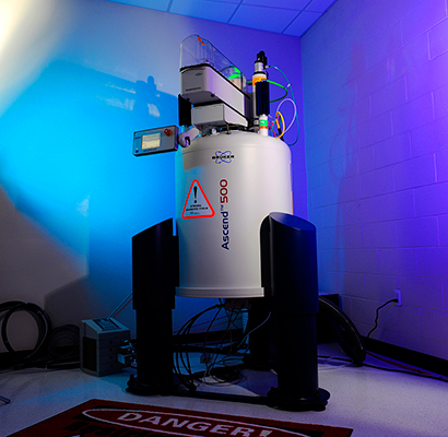 Adelphi's nuclear magnetic resonance (NMR) spectrometer