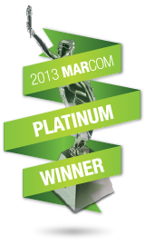 Platinum Winner of 2013 MarCom Awards