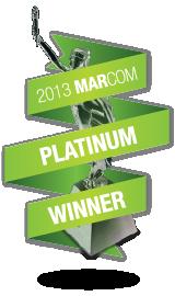 Platinum Winner of 2013 MarCom Awards