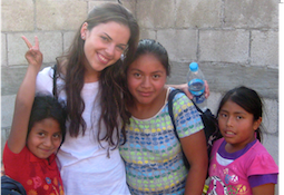 Laura Zappia and children in Guatemala