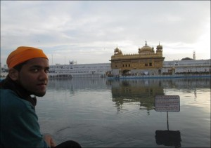 Reaz Khan at the Golden Temple