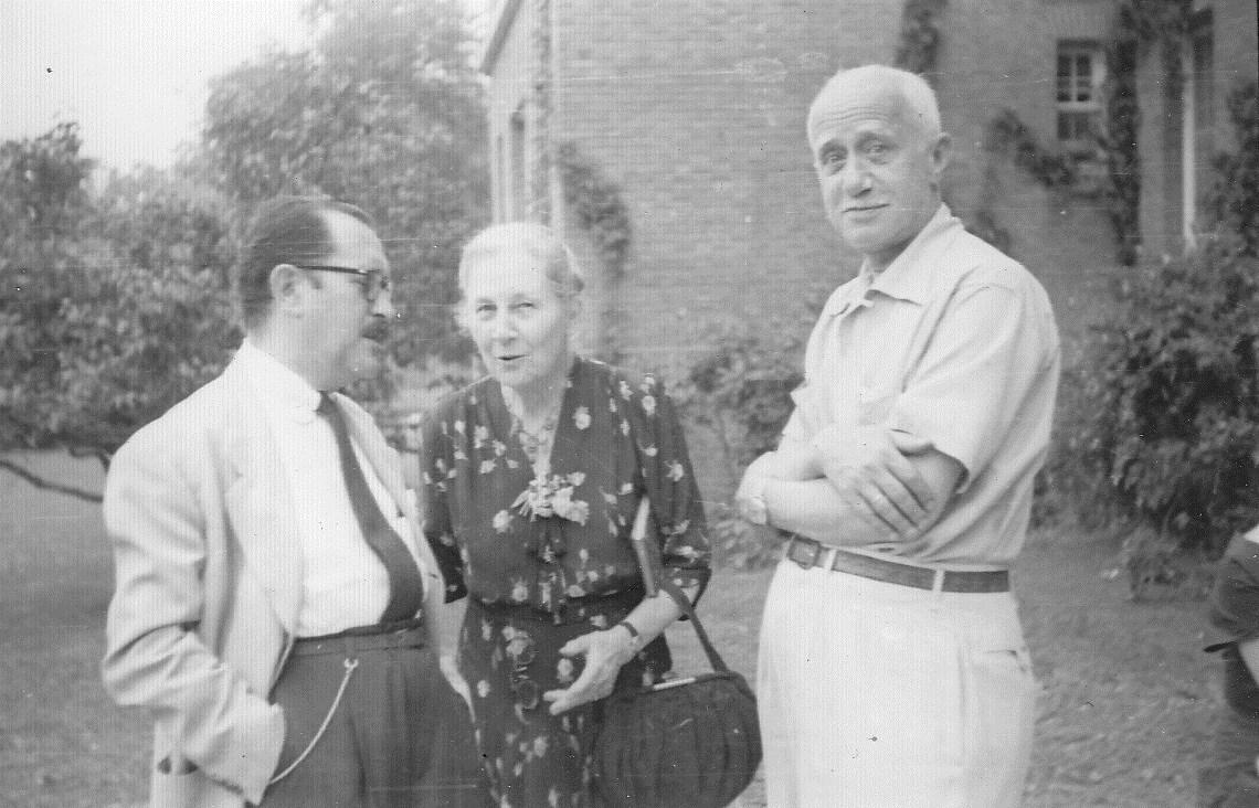With Spanish scholar Luis Baralt 1949