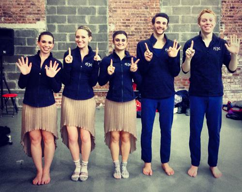 Adelphi Alumni dancers at PKDC