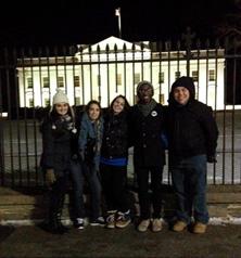 Service Trip Whitehouse LGS students Erin Taub, Ageliki Milios, Steven Joseph, Elizabeth Rilling and Abigail Paulion