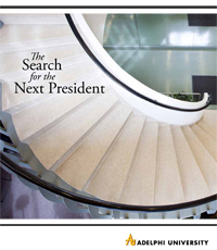 "Adelphi's ""Search for the Next President"" Prospectus"