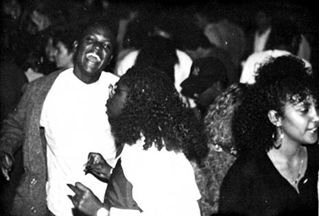 Adelphi students in the Adelphi students in The Rathskeller (Ratt) in 1988