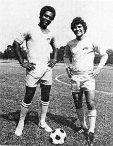 Manny Matos and Carl McDonald '74 Soccer Captains