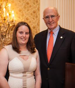 Desiree Mitchell, 3rd Place Senior Award Winner with Dr. Scott