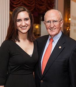 Lindsay Zissis, 2nd Place Senior Award Winner with Dr. Scott