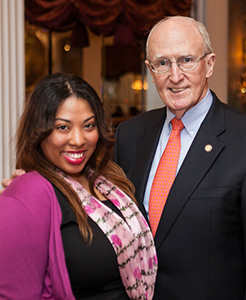 L'Leshia Stevens, 3rd Place Senior Award Winner with Dr. Scott