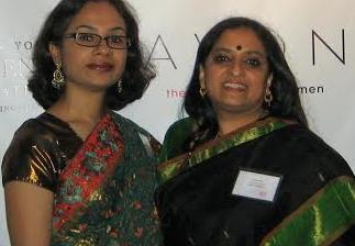Bithi Roy (left), with Subadra Panchanadeswaran, Ph.D.