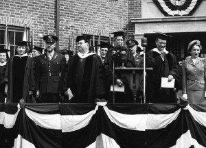 Eleanor Roosevelt speaks at Adelphi - May 1944