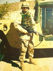 Kathleen Rickard '14 at the British military camp, Port of Umm Qasr, Iraq, 2004