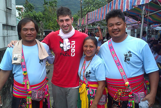 Scott Pursner with Native People in Taiwan