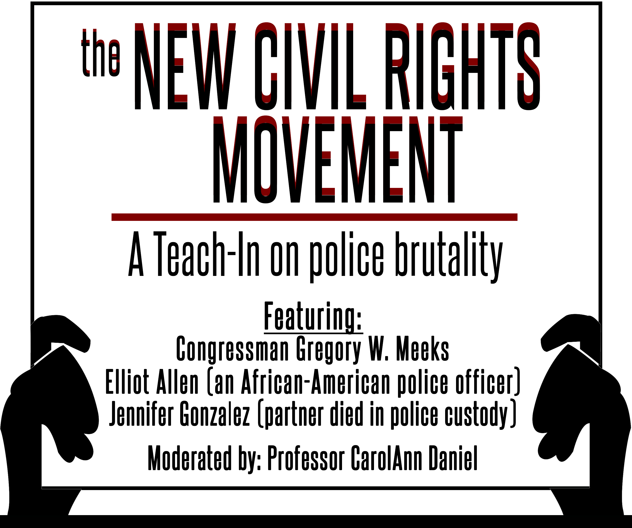 "Flyer for ""The New Civil Rights Movement"" Teach-in"