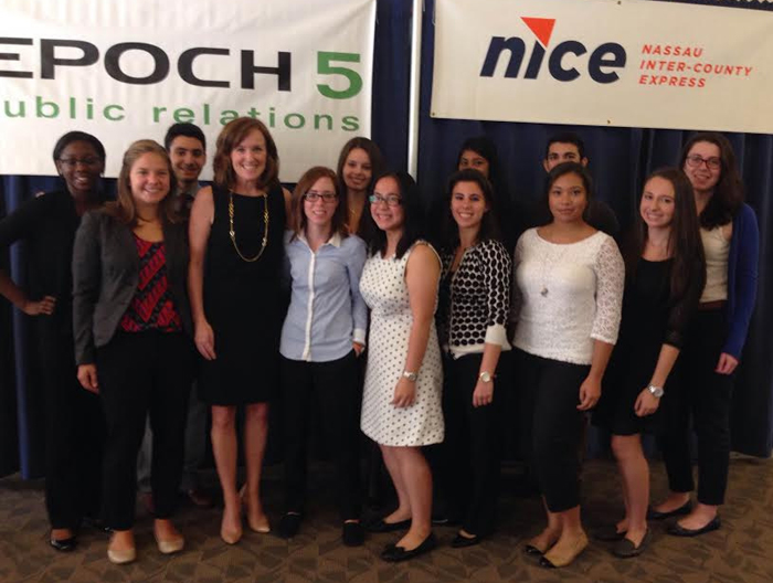 Pictured from left to right: Jasmine Brown, Sarah Cinquemani, George Giakoumis, Kathleen Rice (N.C.D.A.), Bethann Balalaos, Elizabeth Rilling, Jennifer Lin, Alexa Savino, (unknown), Michael Manzo, Jazmine Javier, Catherine Rudell, and Stephanie Lerner.
