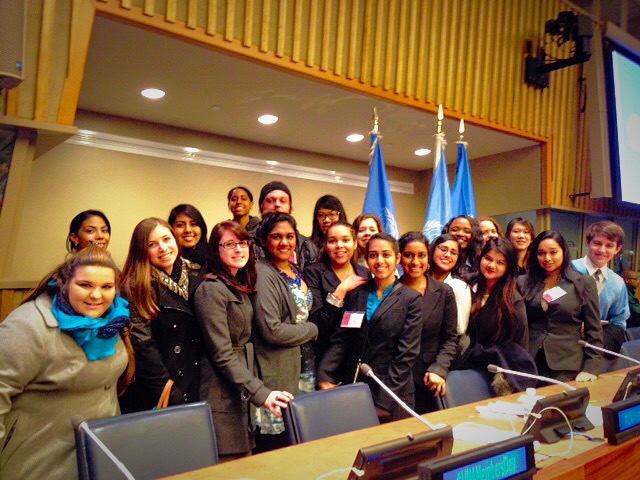 Adelphi students attended the UNA-USA Mid-Atlantic Region al Conference held at United Nations  Headquarters on February 20th, 2015. Discussion topics  of the day included climate change, human  rights, global health, and relations with the Middle Eas t.