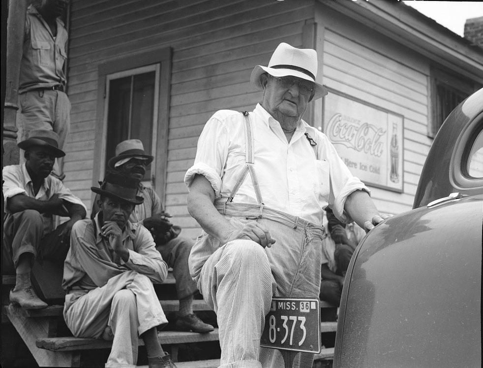 """Dorothea Lange, """"Plantation overseer. Mississippi Delta, near Clarksdale, Mississippi"""" (1936).  <span style="""