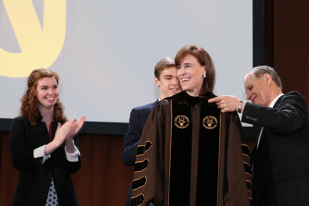 Christine Riordan, Ph.D., inaugurated at 10th President