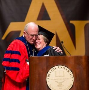 Robert A. Scott with Janice Steil '14