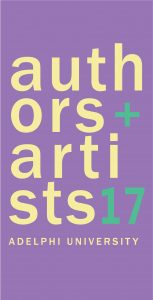 Adelphi University Authors and Artists Exhibit Banner