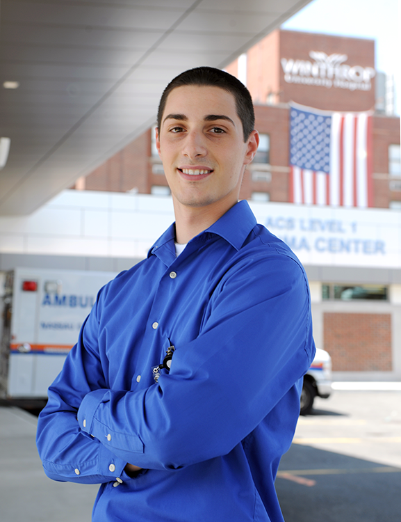 Dominick Bacchi, student intern at Winthrop University Hospital