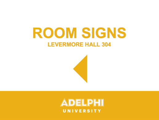 Room Sign Left