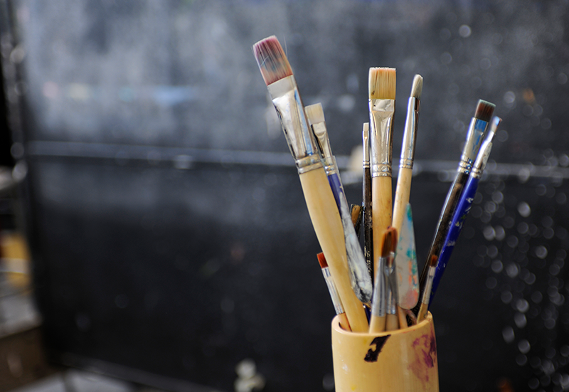 Still Life Example - Brushes in a Studio
