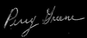 Perry Greene Signature