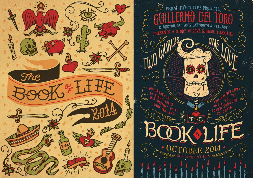 """Two posters Contino designed for """"The Book of Life"""""""