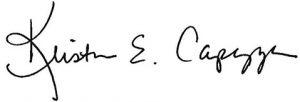 Kristen Capezza Signature