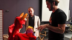 Sebastiano Ricci working with his puppets in class with professor John Drew
