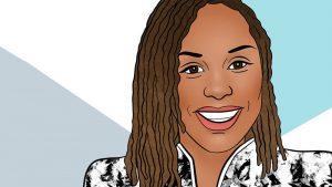 Drawing of Malika Grayson