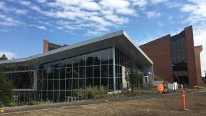 The west side of the updated Ruth S. Harley University Center.