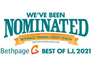 We've been nominated for the Bethpage Federal Credit Union Best of Long Island 2021