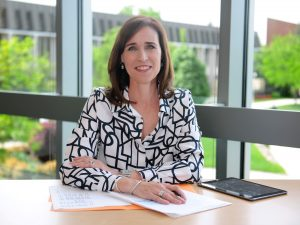 Christine M. Riordan, PhD is the President of Adelphi University in New York