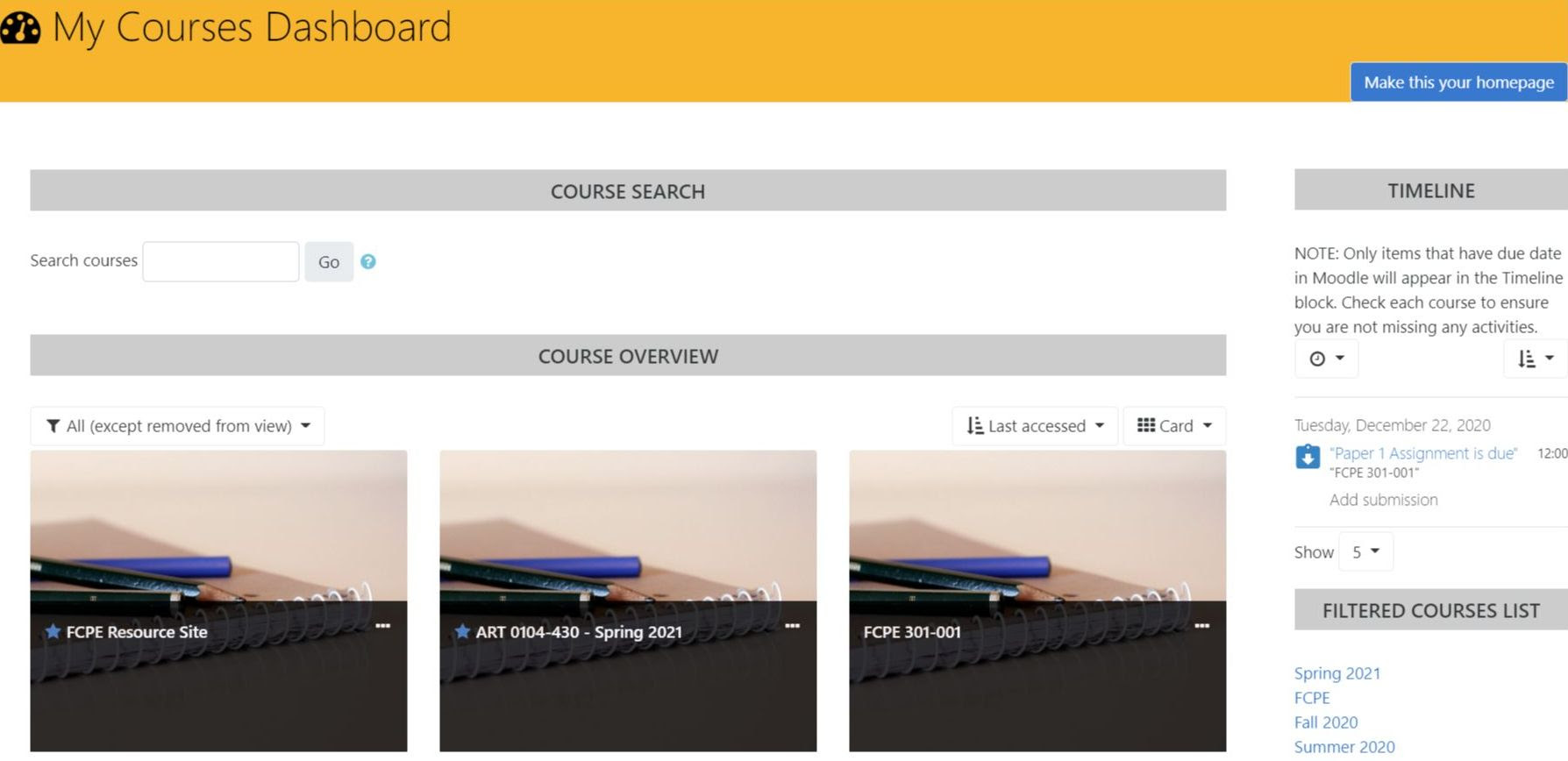 New Moodle homepage image snipping