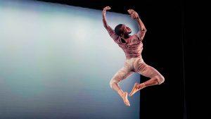 Taro Jones '20 dancing mid leap