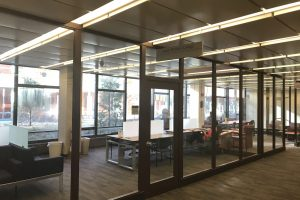 A view of the spacious study areas in the Aimee Ornstein Lounge