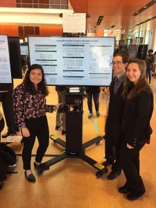 Alumni Jennefer Maldonado presenting her research project at Adelphi's research conference
