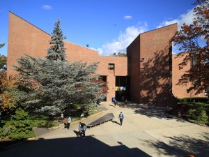 A view of the Ruth S. Harley University Center.