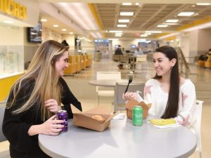 Adelphi students dining in the UC.