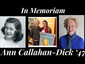 In Memoriam: Ann Callahan-Dick